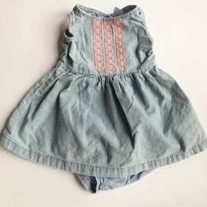 5/$25 Carter's Chambray dress with open back